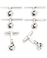 Bloomingdale's - Sterling Silver Knot Shirt Stud & Cufflinks Set - Lyst