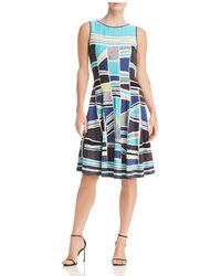 NIC+ZOE - Nic+zoe Going Places Fit-and-flare Dress - Lyst