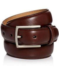 Cole Haan - Topstitch Leather Belt - Lyst