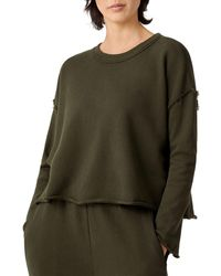 Bloomingdale's Eileen Fisher Rolled Hem Box Top - Green