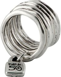 Uno De 50 - Stacked Lock Ring - Lyst