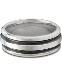 David Yurman Sterling Silver Deco Ring - Metallic