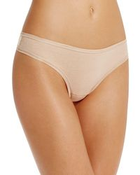 Fine Lines - Pure Cotton Thong - Lyst