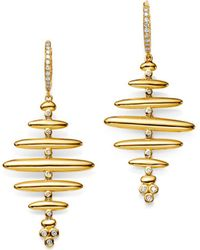 Temple St. Clair - 18k Yellow Gold Pavé Diamond Large Hive Earrings - Lyst