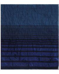 Armani Emporio Multi - Stripe Scarf - Blue