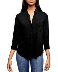 L'Agence Ryan Shirt - Black