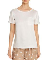 Elie Tahari Keva Short - Sleeve Shirt - White