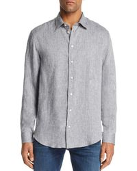 Emporio Armani - Tonal Stitch Regular Fit Button-down Shirt - Lyst