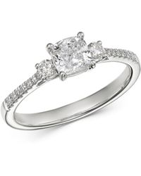 Bloomingdale's Cushion - Cut Diamond Engagement Ring In 14k White Gold