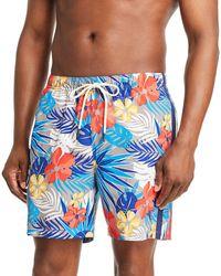 Tommy Bahama Naples Prickly Pear - Print Swim Trunks - Blue