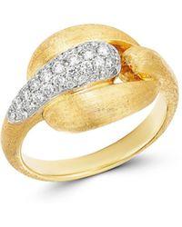 Marco Bicego 18k Yellow Gold & 18k White Gold Lucia Diamond Link Ring - Metallic