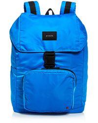 State Bennett Large Nylon Backpack - Blue