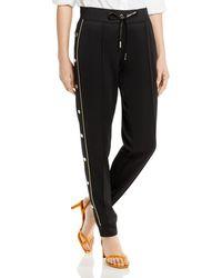 Karl Lagerfeld Embellished Jogger Pants - Black