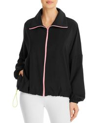 Terez Drawcord Windbreaker - Black