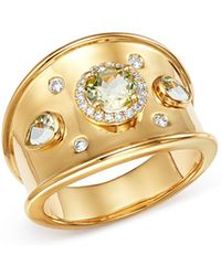 Kiki McDonough - 18k Yellow Gold Jemima Lemon Quartz & Diamond Ring - Lyst
