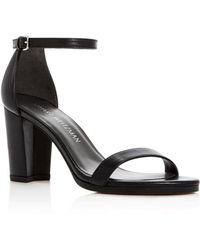 fbe5f64752a Lyst - Stuart Weitzman Platform Sandals - Tizyou High Heel in Natural