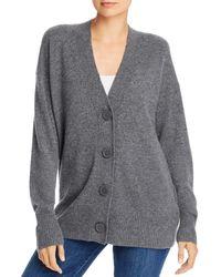 Equipment Cashmere Button - Front Elder Cardigan - Grey