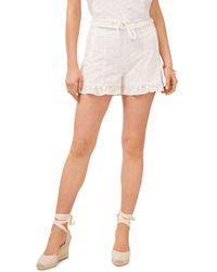 1.STATE Ruffle Hem Shorts - White