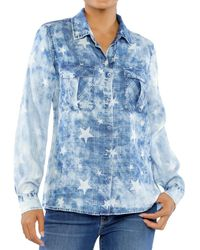 Billy T Unity Printed Tie Dyed Shirt - Blue