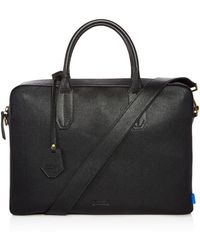 Uri Minkoff - Fulton Micro Caviar Textured Leather Slim Briefcase - Lyst
