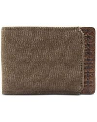 Boconi Bryant Canvas And Leather Slimster Wallet - Brown