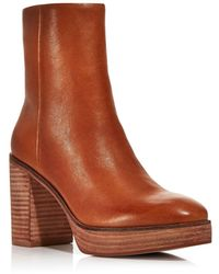 Aqua Women's Nessa Platform Booties - Brown