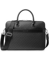 Michael Kors Signature Explorer Briefcase - Black