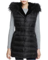 Dawn Levy - Brittany Traveler Fur Trim Down Vest - Lyst