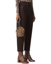 Whistles - High Rise Barrel - Leg Jeans In Chocolate - Lyst