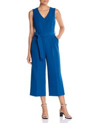 Vince Camuto Cropped Wide - Leg Jumpsuit - Blue