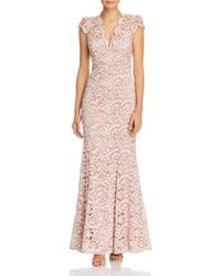 Eliza J Scalloped - Edge Lace Gown - Pink