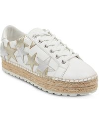 Marc Fisher - Women's Maevel Leather Lace Up Espadrille Platform Sneakers - Lyst