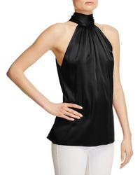 Ramy Brook - Paige Tie Neck Silk Top - Lyst