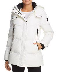 Vince Camuto Matte Short Puffer Coat - White