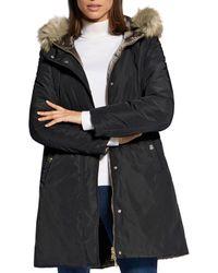 Basler Reversible Puffer Coat - Black