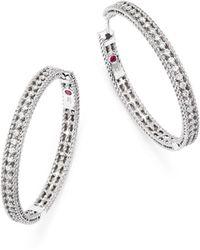 Roberto Coin - 18k White Gold Symphony Barocco Diamond Hoop Earrings - Lyst