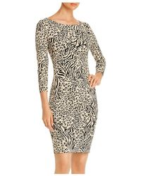 T Tahari - Animal - Print Dress - Lyst