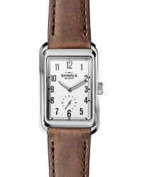 Shinola - The Omaha Leather Strap Watch - Lyst