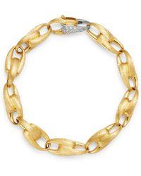Marco Bicego - 18k Yellow Gold & 18k White Gold Lucia Diamond Link Bracelet - Lyst