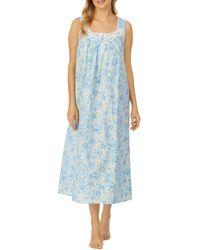 Eileen West Sleeveless Ballet Nightgown - Blue