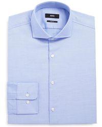 BOSS - Men's Sharp-fit Cotton Oxford Dress Shirt - Lyst