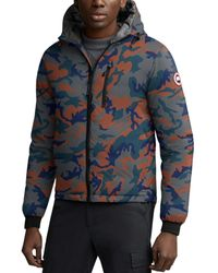 Canada Goose Lodge Hoody Camouflage - Print Down Jacket - Blue