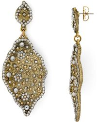 Roni Blanshay - Leaf Earrings - Lyst