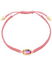 Kendra Scott 14k Gold - Plated Grayson Watercolor Illusion Adjustable Friendship Bracelet - Pink