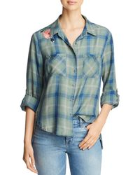 Billy T - Embroidered & Studded Plaid Shirt - Lyst