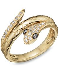 Bloomingdale's Diamond Snake Ring In 14k Yellow Gold - Metallic