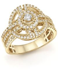 Bloomingdale's - Diamond Statement Ring In 14k Yellow Gold, .65 Ct. T.w. - Lyst
