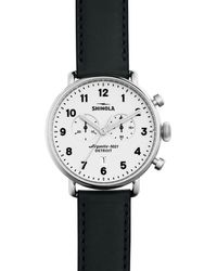 Shinola The Canfield Chronograph Watch - Black