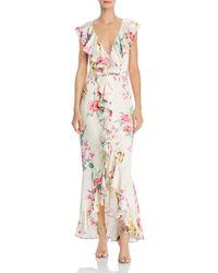 Keepsake Arrows Ruffled Floral Print Gown - Multicolour