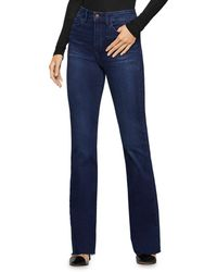 BCBGeneration Raw - Edge Flared Jeans In Abbie - Blue